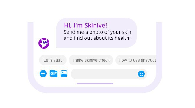 Skinive free healthcare chat-bot